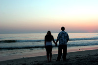 Couple at Sunset in Carlsbad CA